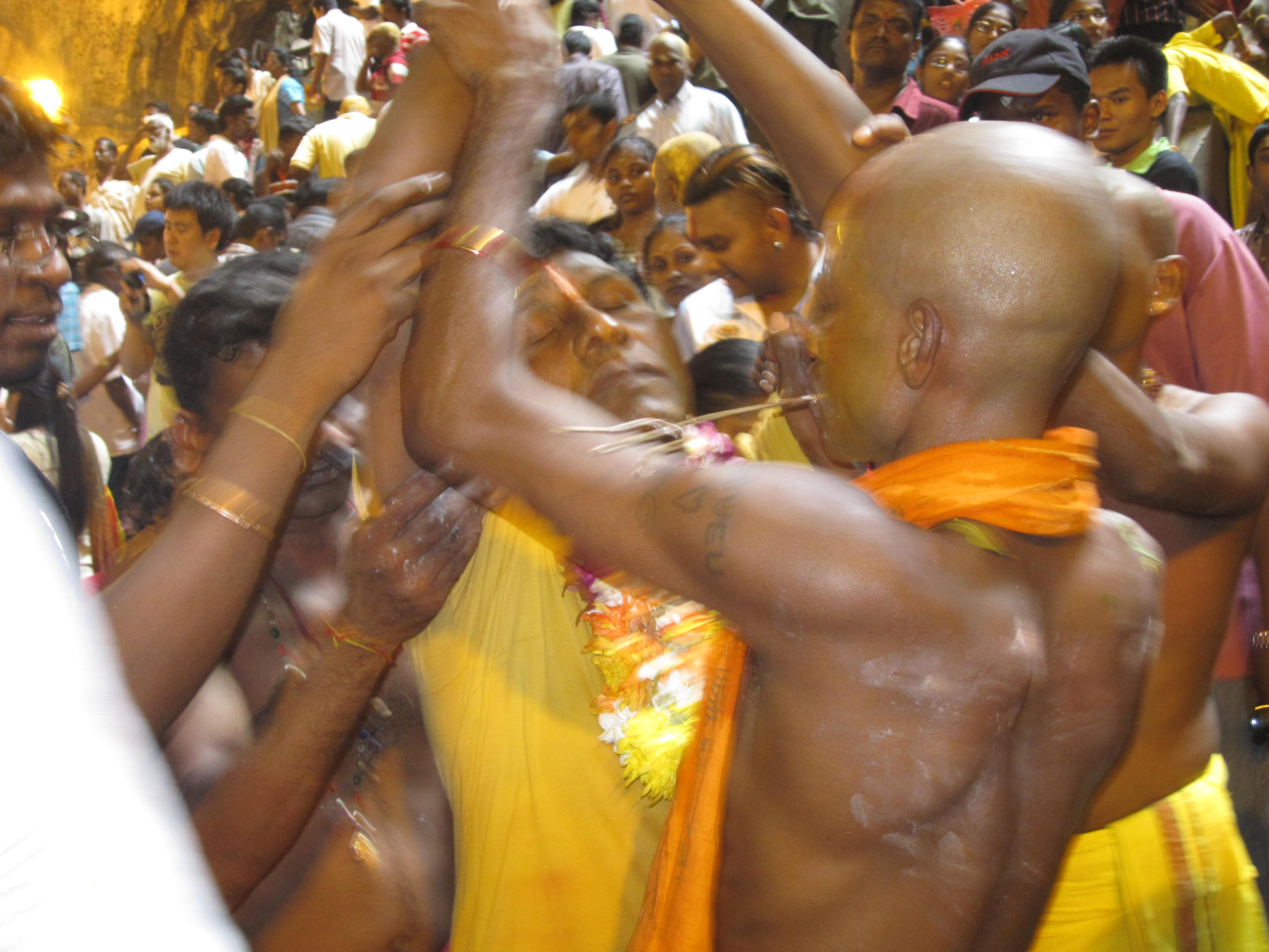 Thaipusam Hindu Festival at the Batu Caves in Malaysia