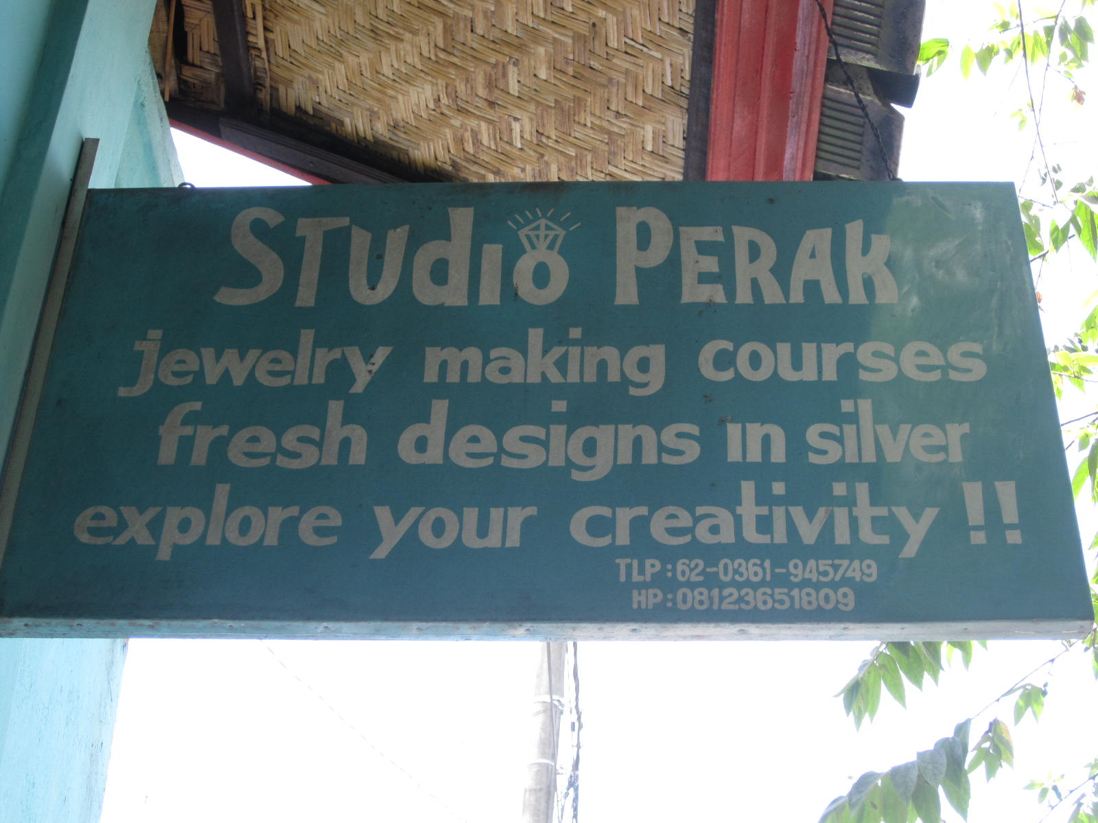 Studio Perak is located on Hanuman Street in central Ubud, Bali