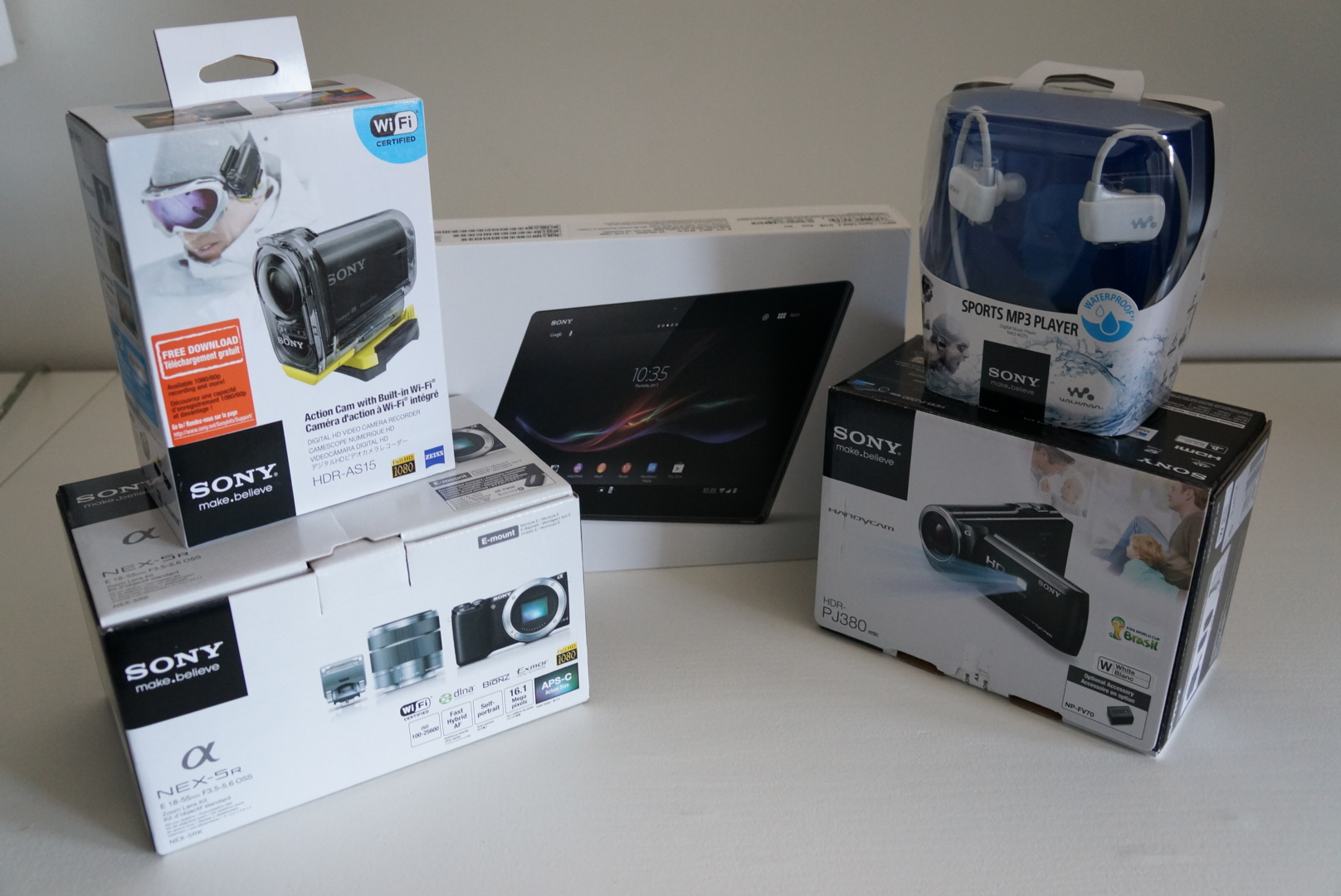 Some of the Sony gear I received