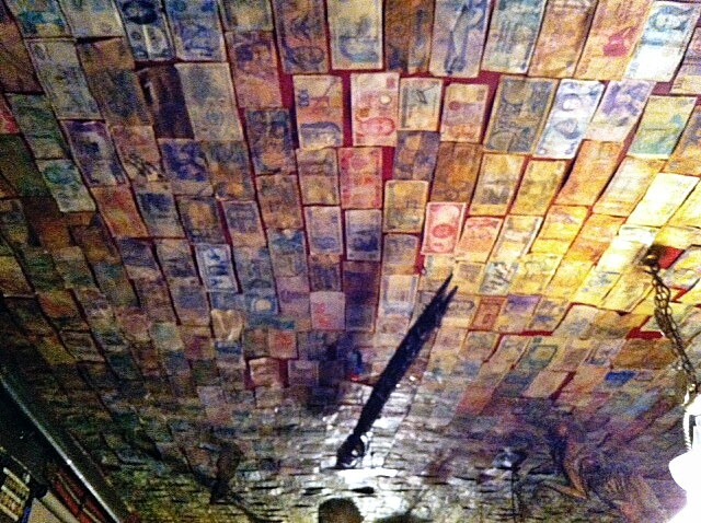 A roof made of money?