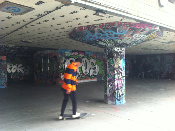 Waterloo Station Skateboarders