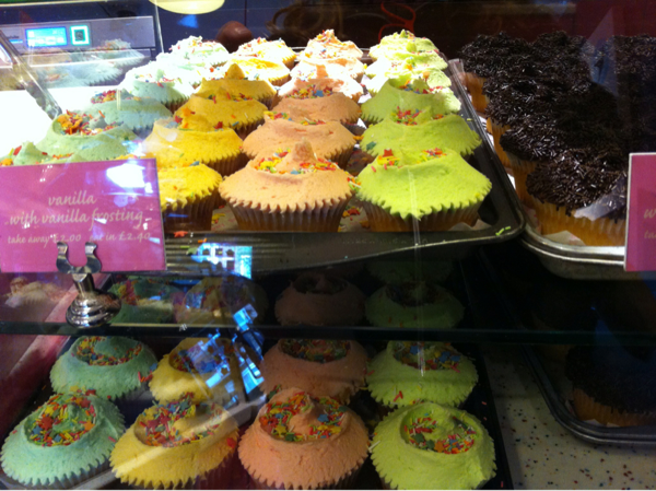Cupcakes from the Hummingbird Bakery