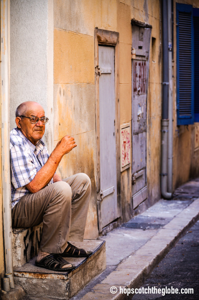 A local man in Marseille, France