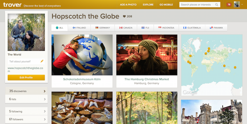 Trover Homepage