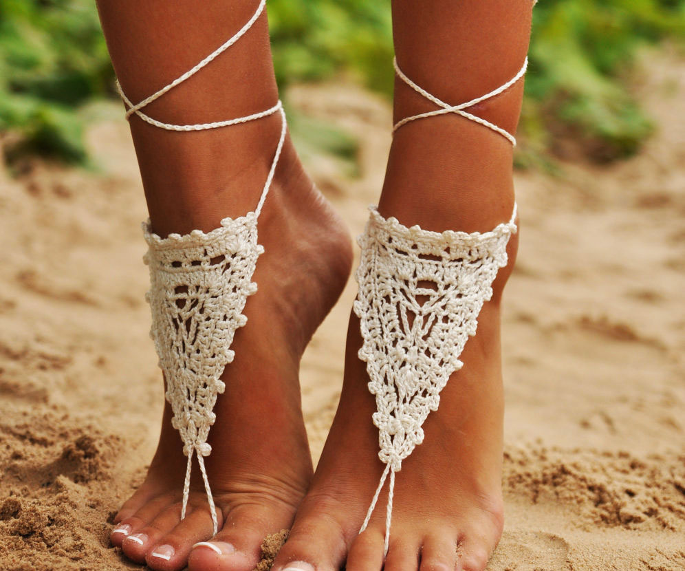 crochet-ivory-barefoot-sandals