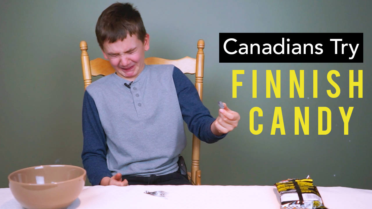 Canadian Kids Try Finnish Candy