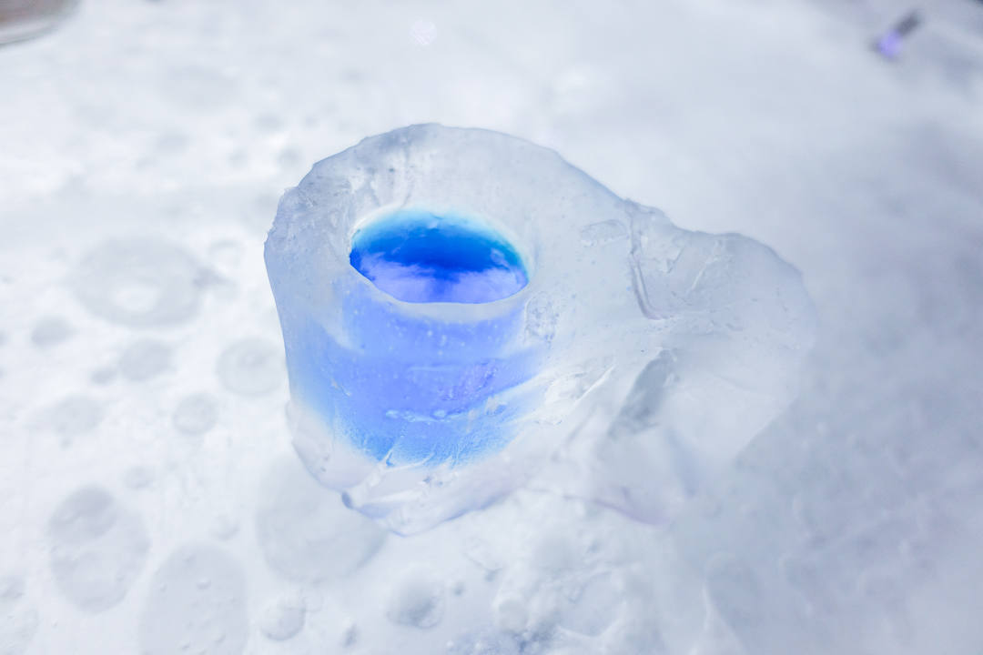 Snow Castle Restaurant Finland Ice cup