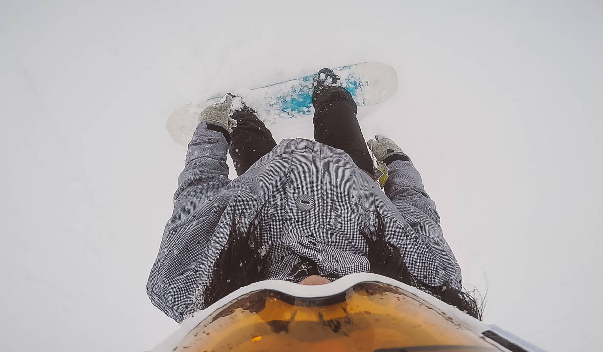 snowboarding in banff