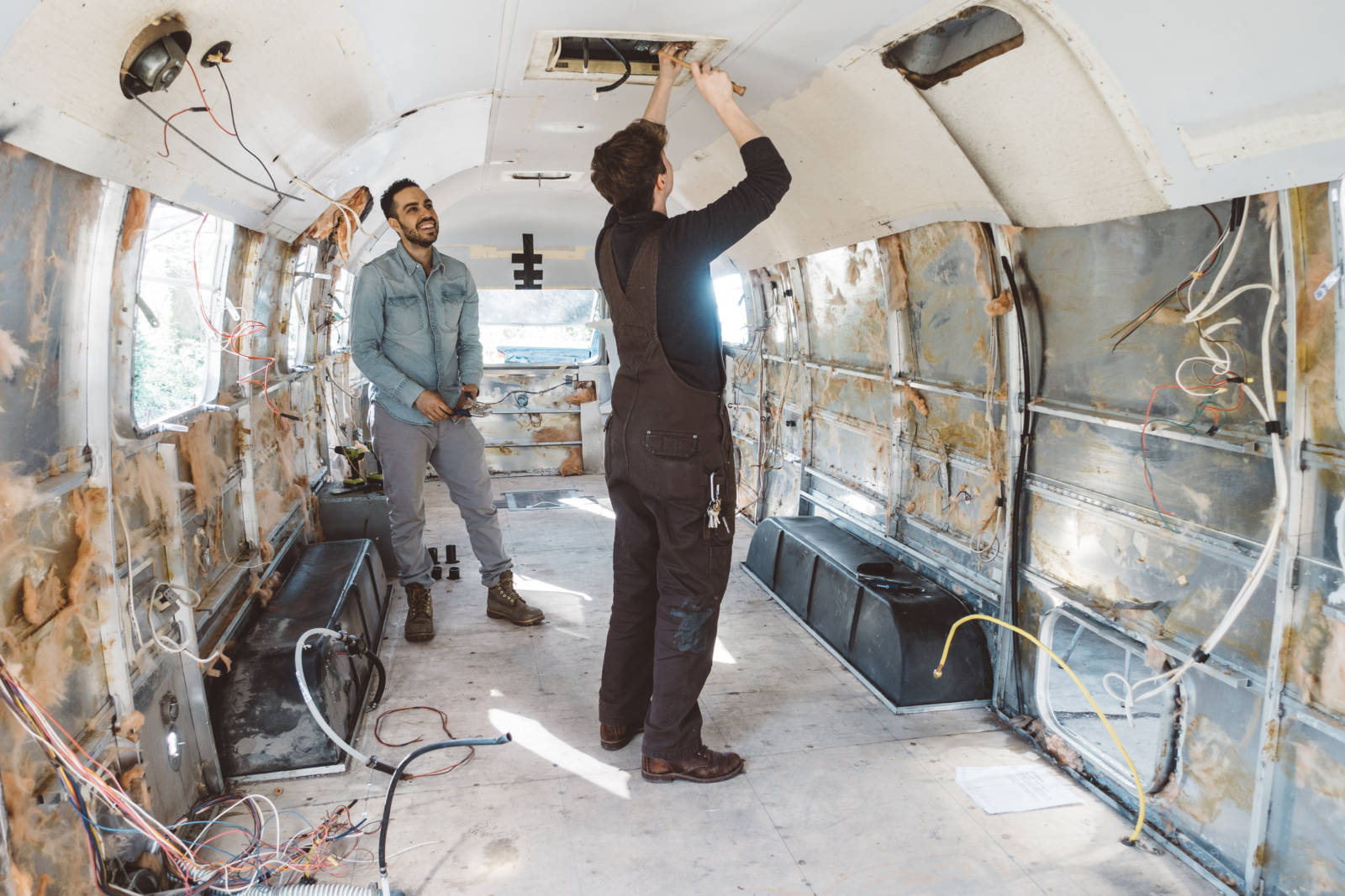 Airstream Renovation Wall Removal