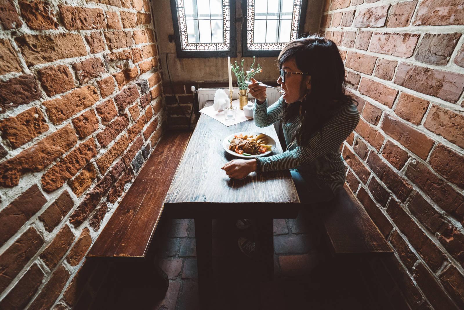How to Survive Eastern Europe on a Vegan Gluten-Free Diet Malbork Castle restaurant