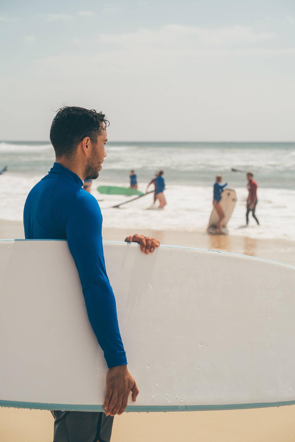 Surfing in Surfers Paradise Australia