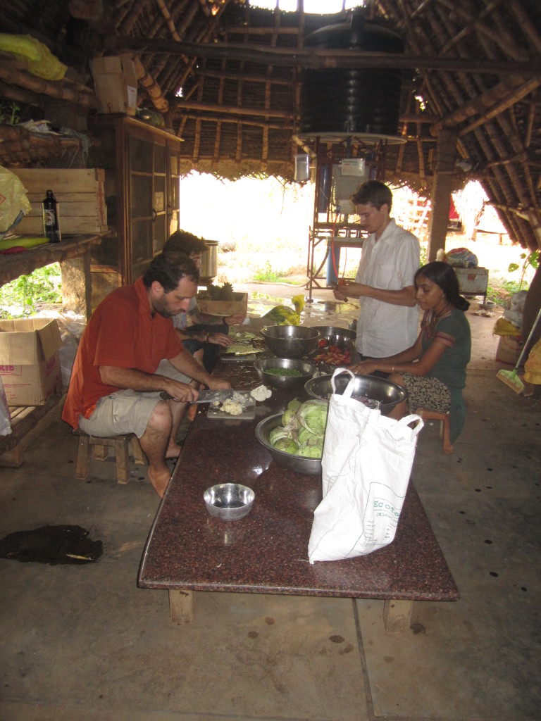 Cooking at Sadhana Forest India