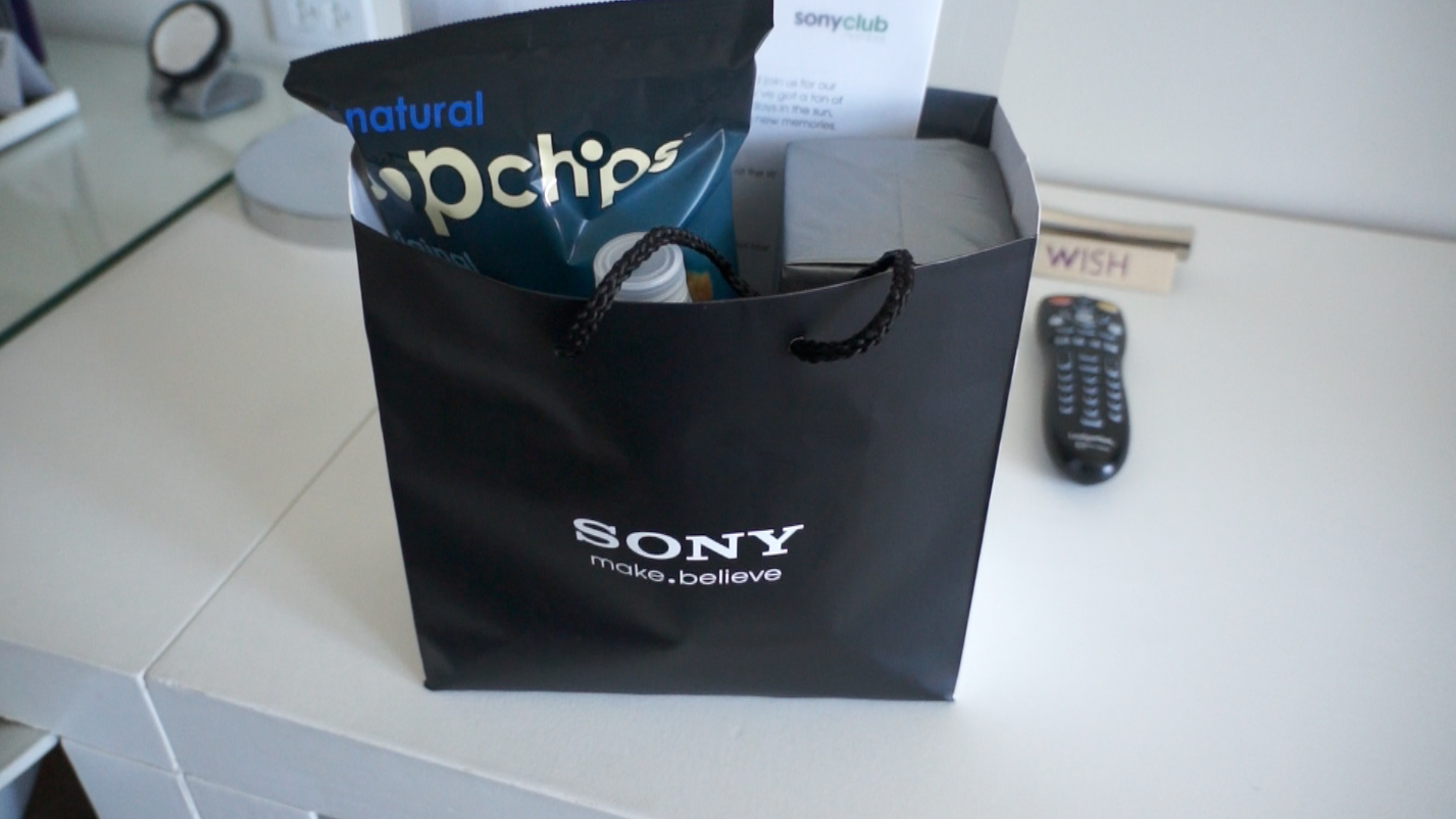 My nice welcome gift from Sony
