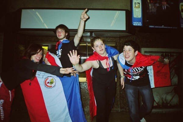 """Allie and are during our first """"real travel"""" experience in Paraguay, South America"""