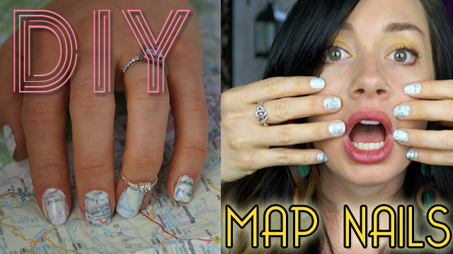 DIY Map Nail Art
