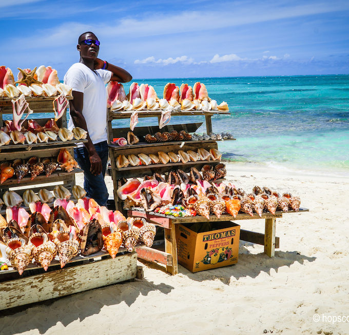 Eating Conch in Turks and Caicos