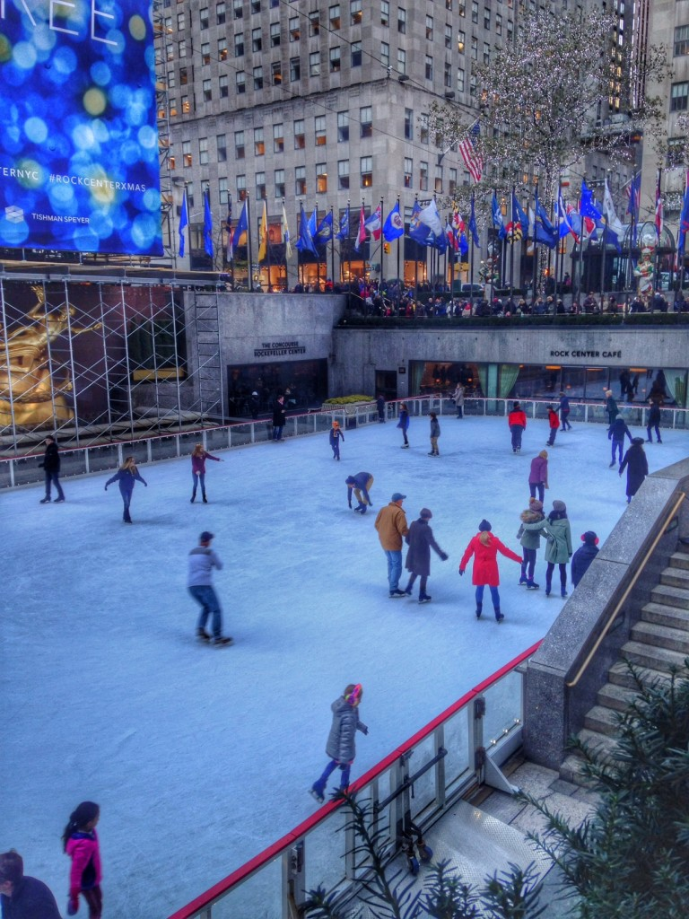 Skating at Rockafeller Center