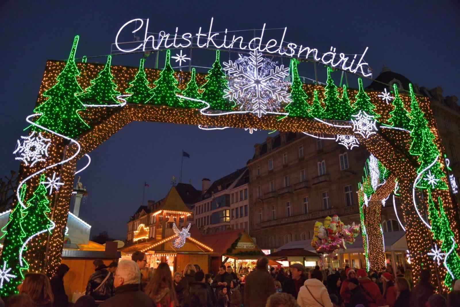 Christmas Market gate Strasbourg