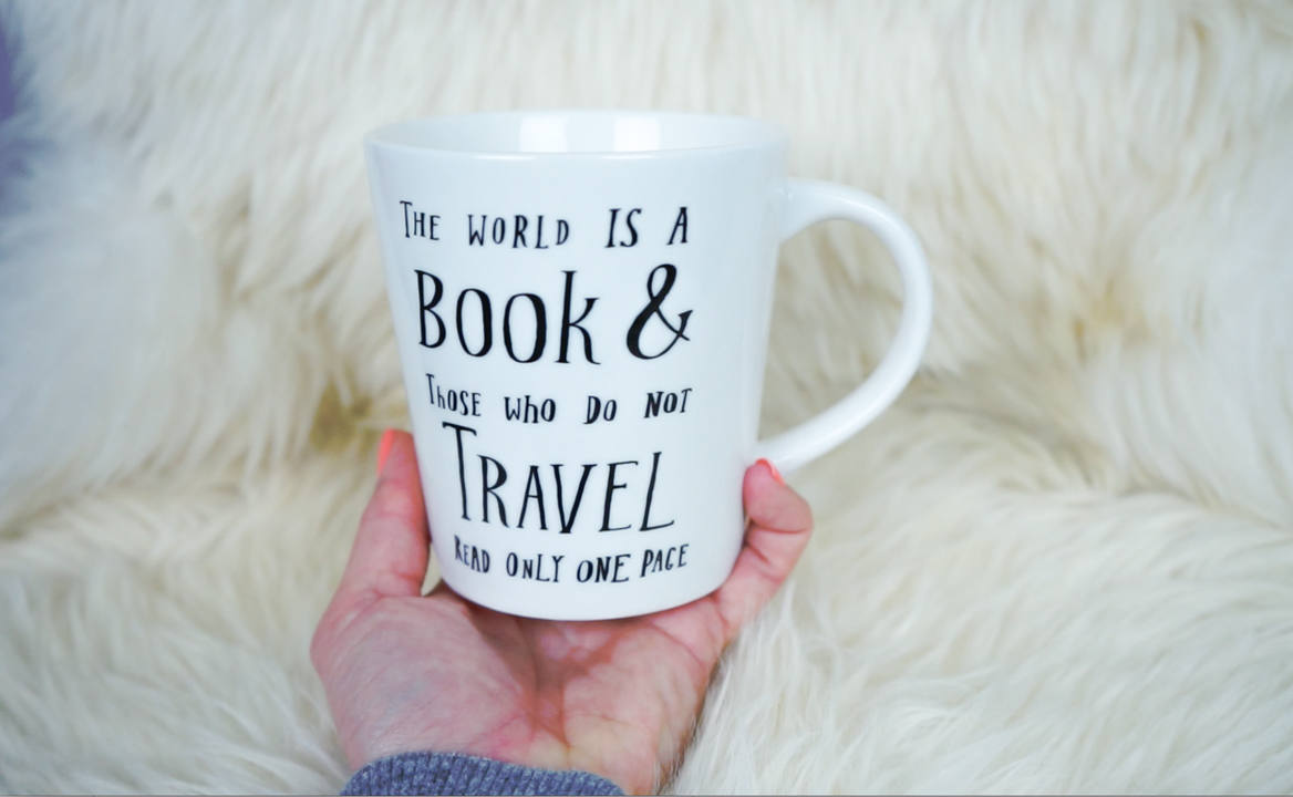 World is a Book Mug