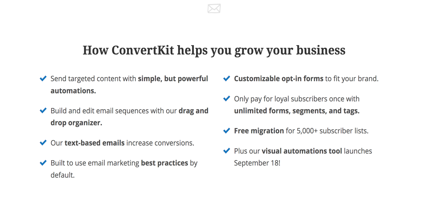 10 Best Tools for Running Your Online Business in 2018_Convertkit_2