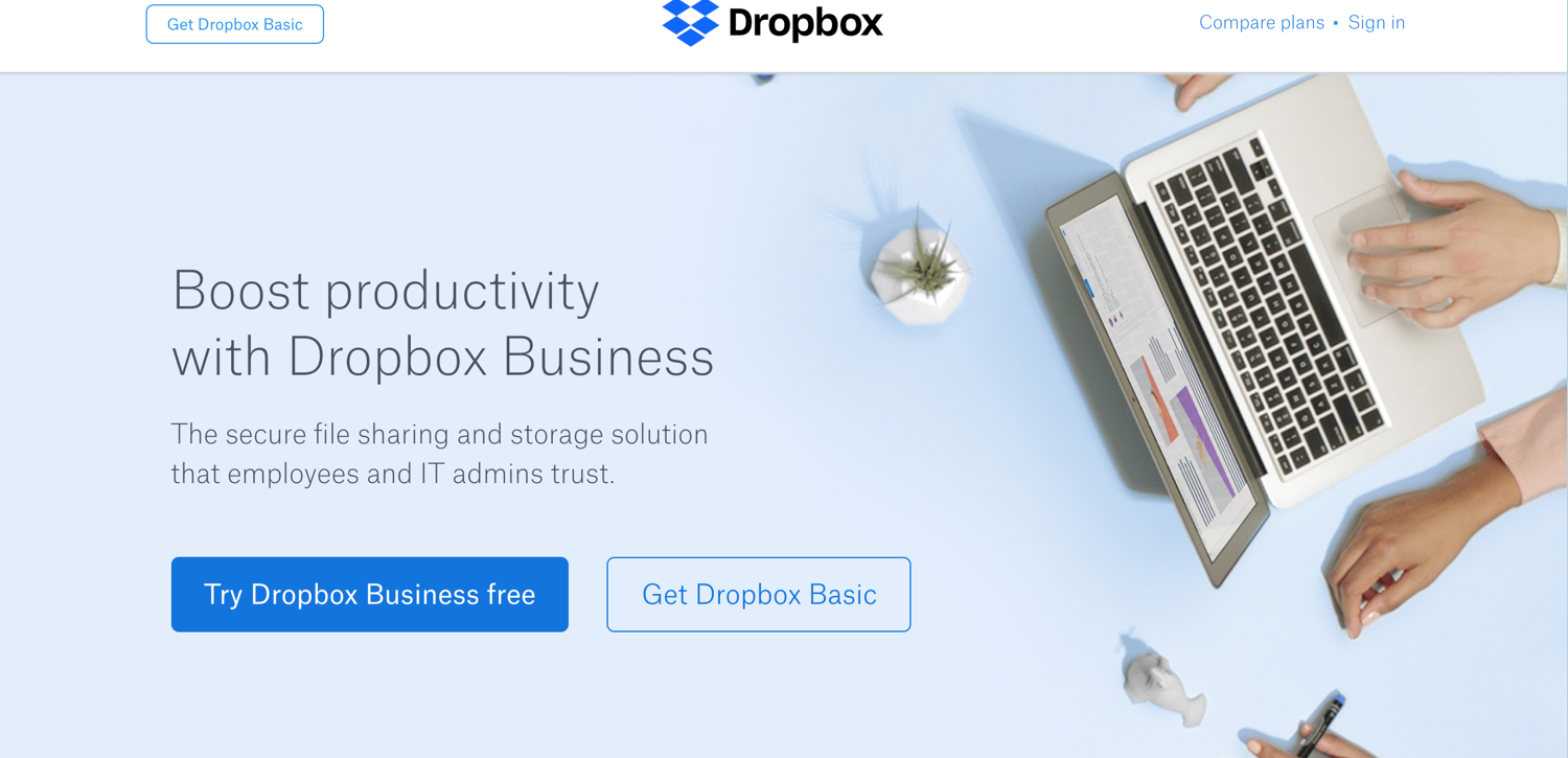 10 Best Tools for Running Your Online Business in 2018_Dropbox