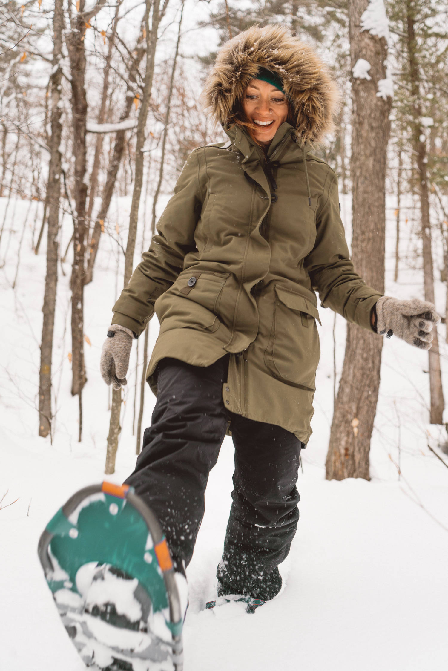 Snow shoeing in Ontario Canada