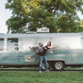 airstream tiny house couple