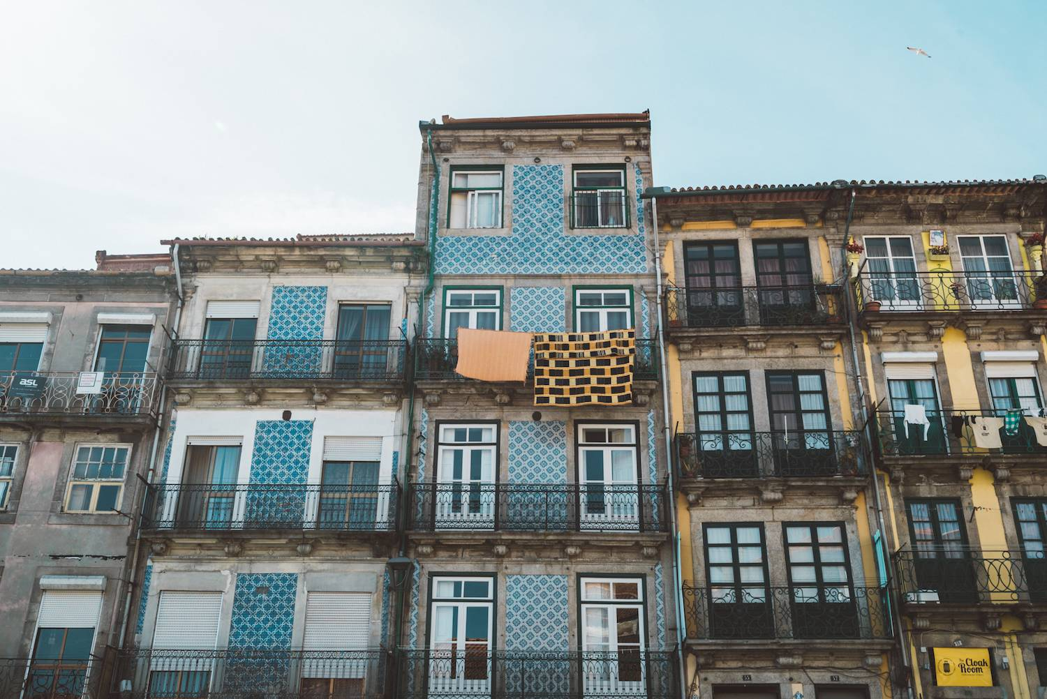 Beautiful buildings in Porto Portugal