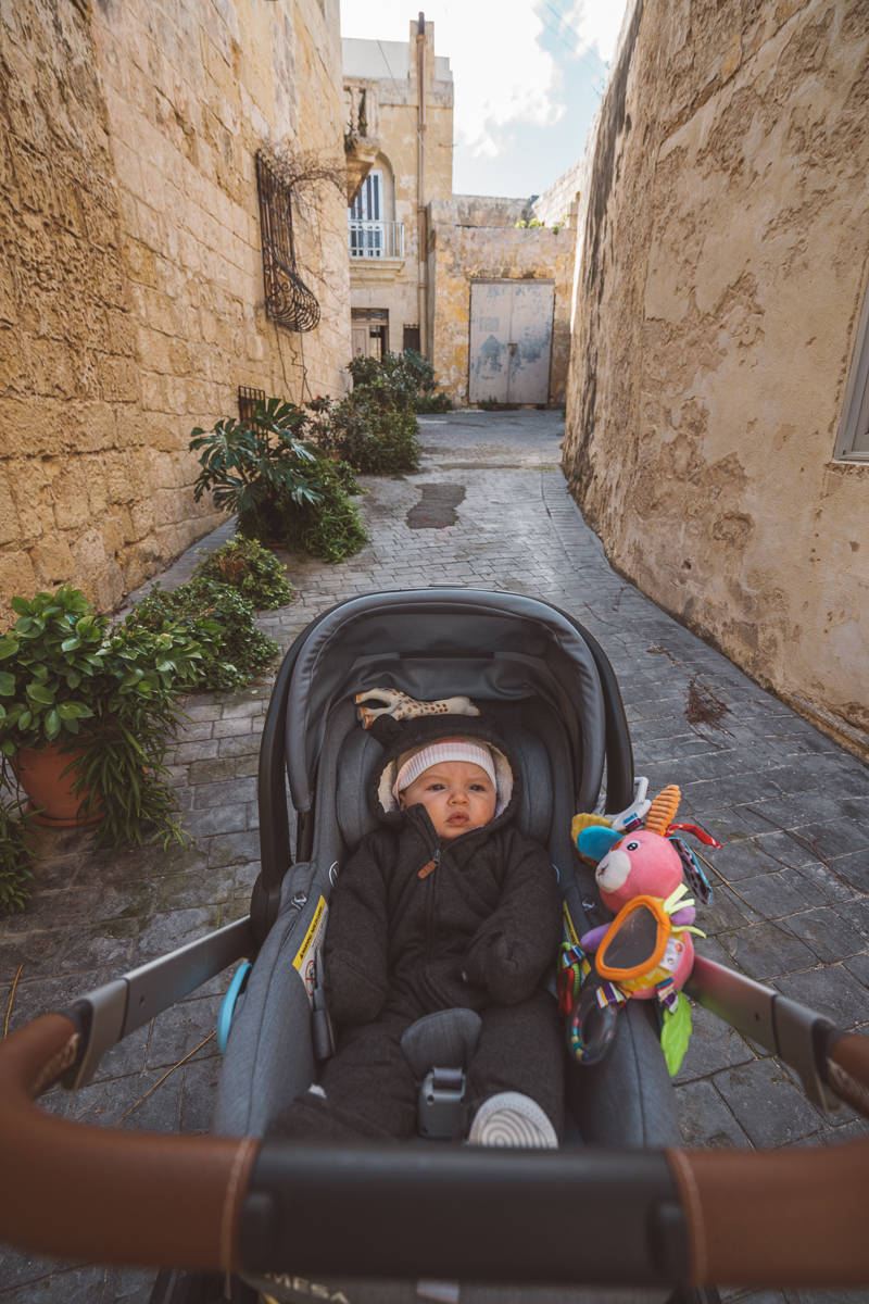 Malta travel with a baby