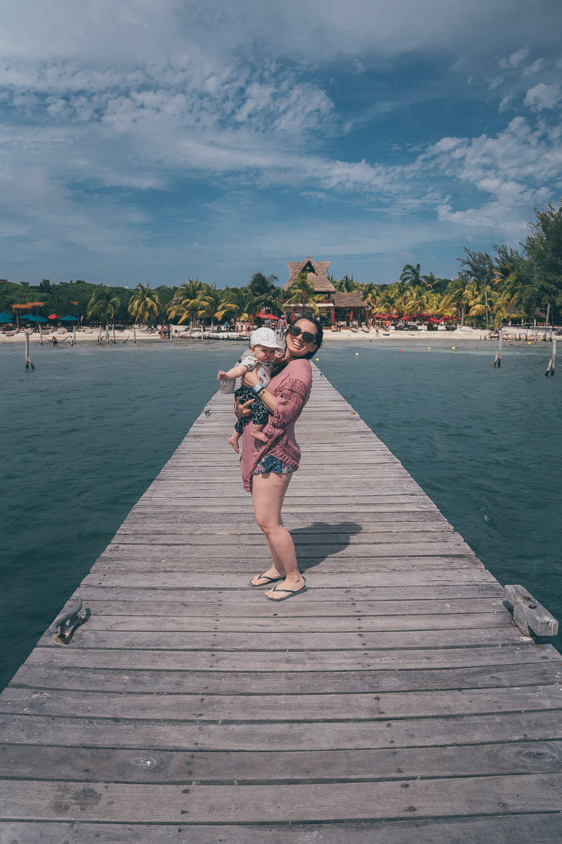 travel with baby in mexico isla mujeres