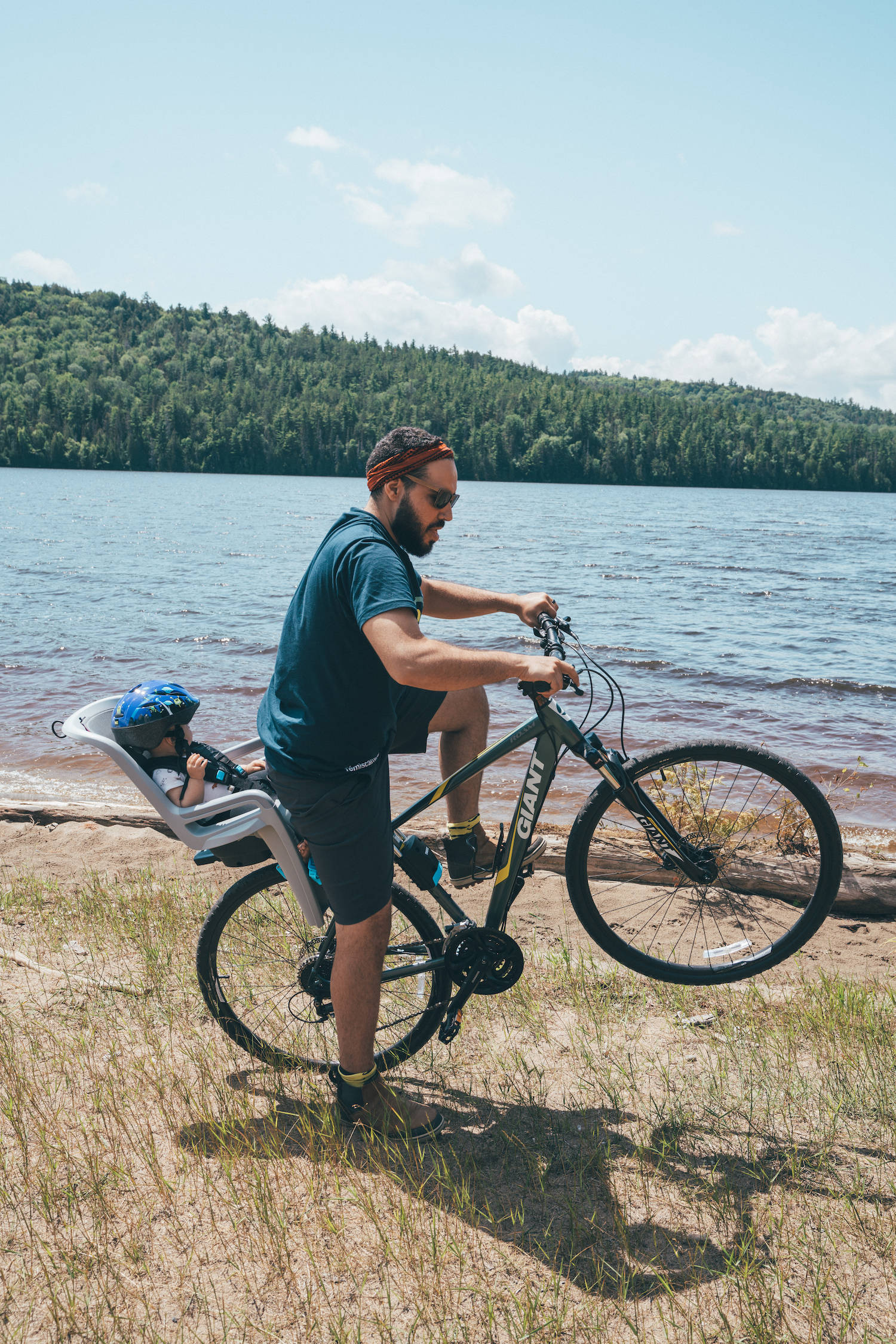 bike riding in Parc national d'Opémican