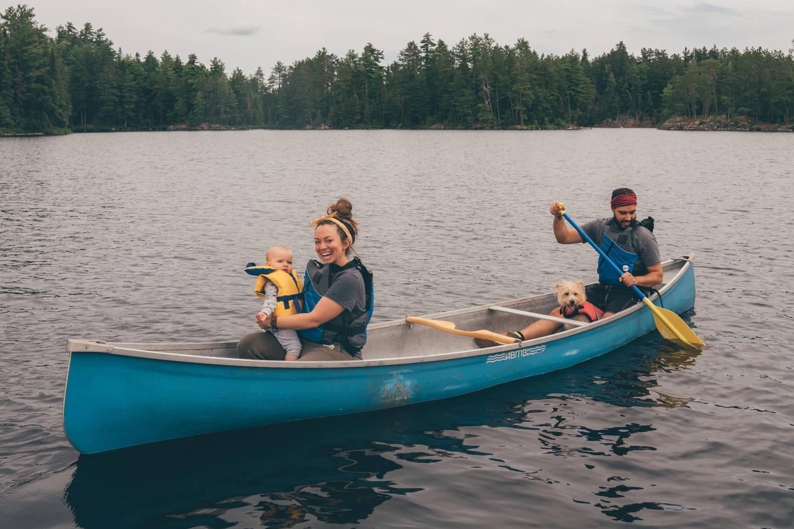 canoeing in Quebec Canada