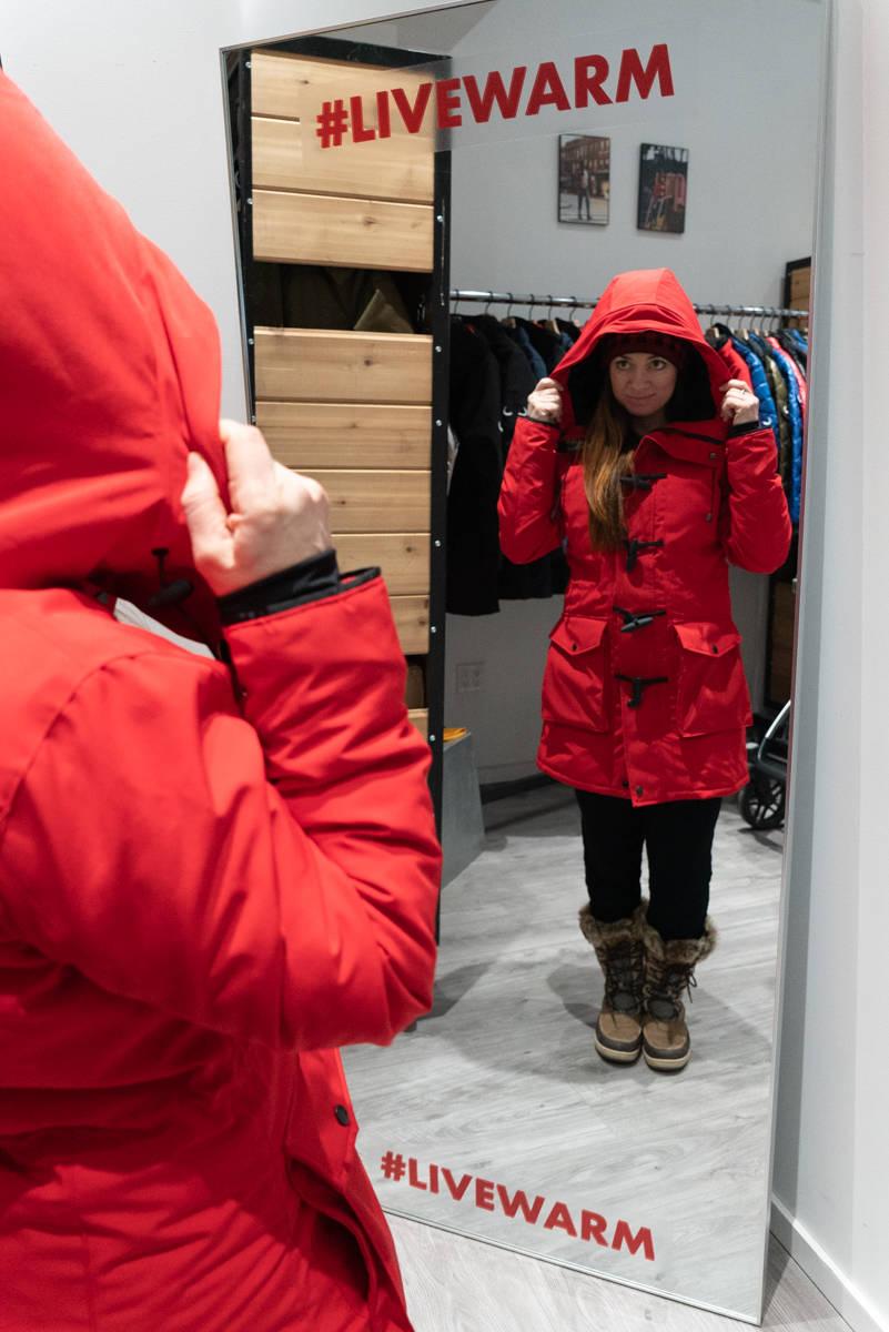 Canadian made vegan winter jacket