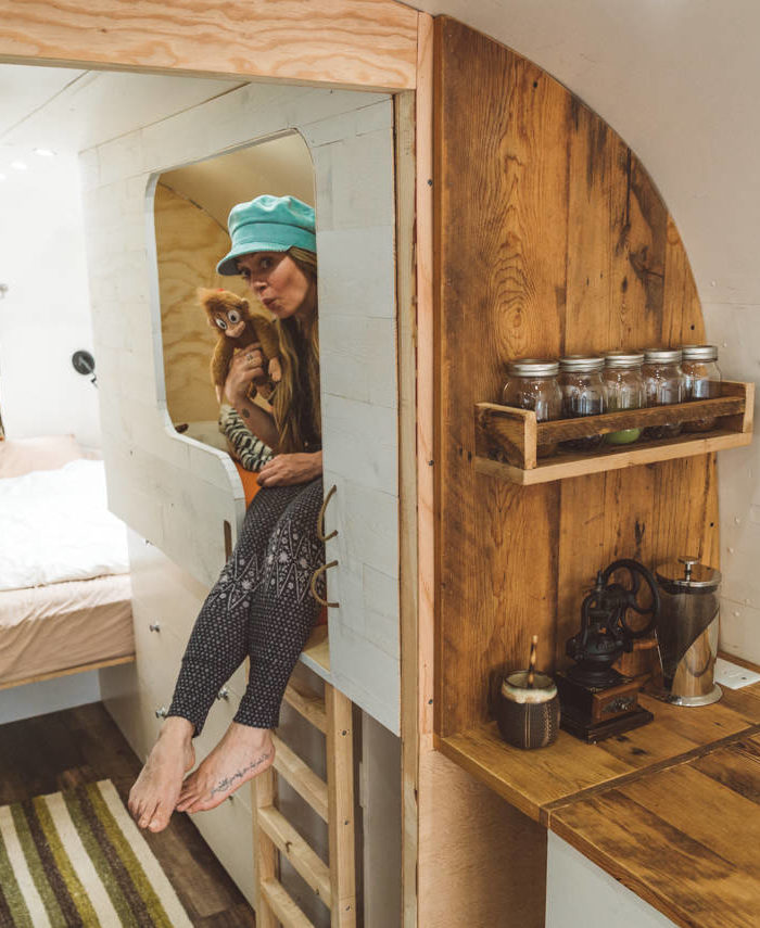 airstream kids bunk renovation