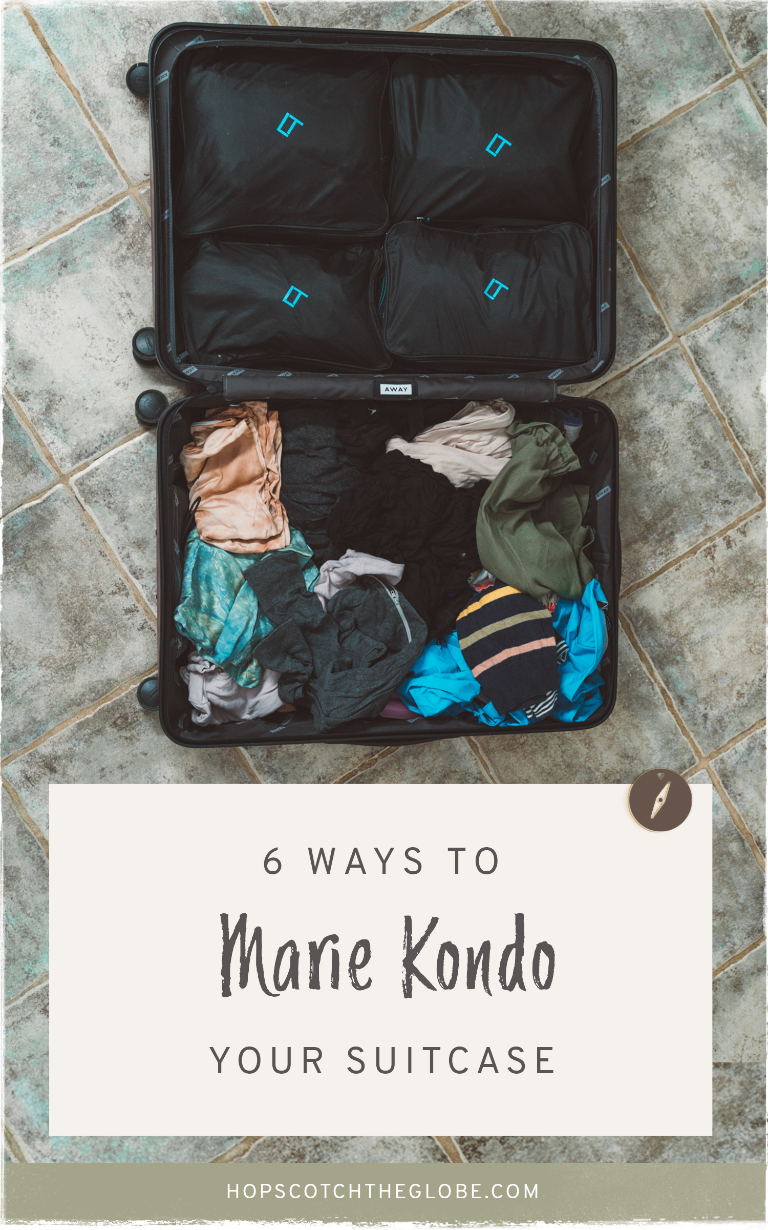 keep your suitcase organized with these tips